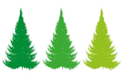 christmas color tree vector