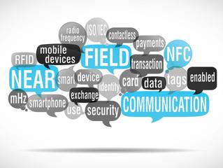 nuage de mots bulles : NFC