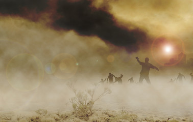 zombies desert horizontal