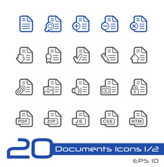 Documents Icons - 1 of 2 -- Line Series