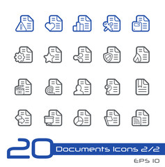 Documents Icons - 2 of 2-- Line Series