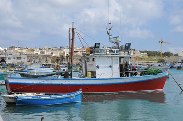 Malta, the picturesque city of Marsaxlokk