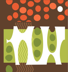 abstract peapods vegetable illustration collage