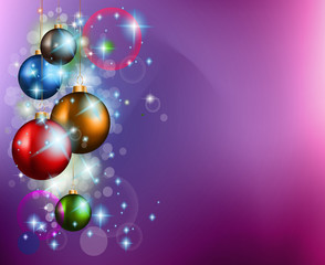 2015 Christmas Colorful Background with a waterfall of lights