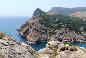 View on entrance to the picturesque bay Balaklava