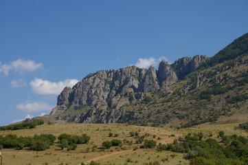 Slope mountain Demerdji, Crimea