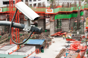CCTV or surveillance operating over construction site