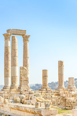Temple of Hercules in Amman Citadel, Jordan