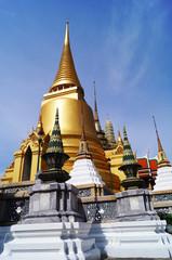 Pagoda in Temple of the Emerald Buddha  or Wat Phra Kaew in Bang
