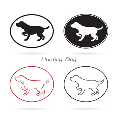 Vector image of an dog hunting