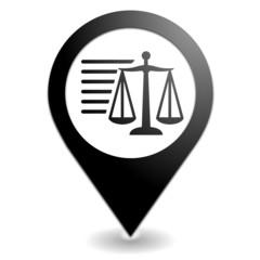 mentions légales sur symbole localisation noir