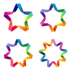 Colorful stars set