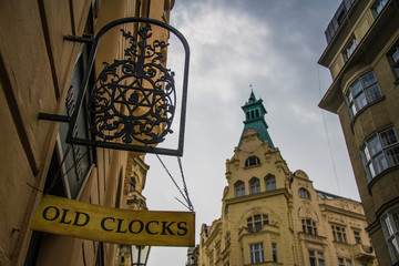 Old clock shop in Prague
