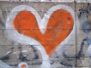 graphite red heart