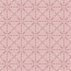 Pink glossy floral pattern seamless background