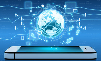 Mobile Internet and applications from around the world on phone