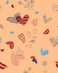 Seamless pattern for St. Valentine`s  Day