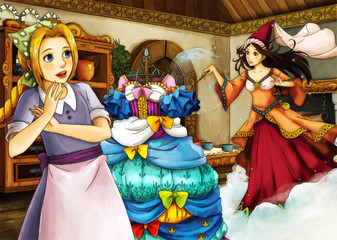 Cartoon fairy tale scene