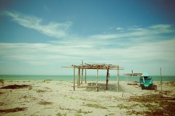beautiful tropical beach in the coast of ecuador