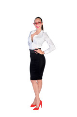isolated business woman