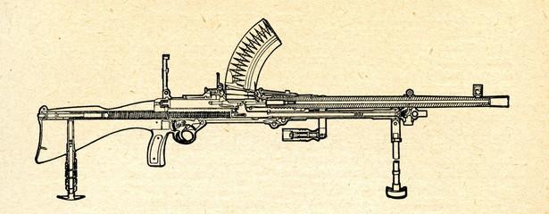 Light machine gun ca. 1930