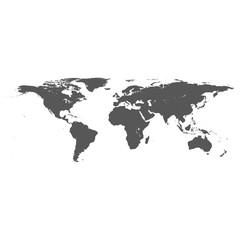 vector dark grey on white world map