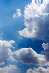 beautiful clouds in the blue sky