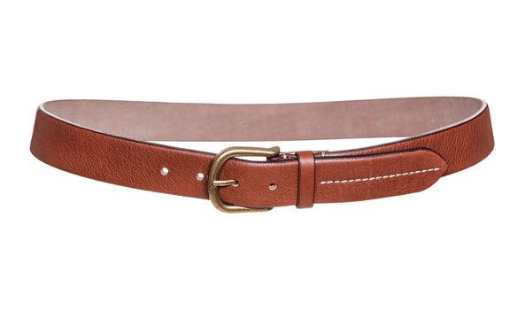 Leather belt isolated on white background