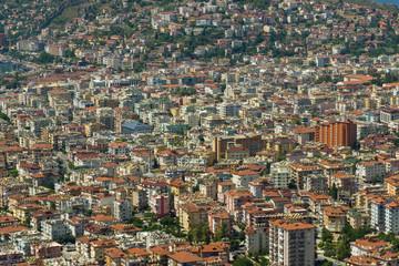 Residential buildings. Urbanization. Background. Alanya. Turkey.