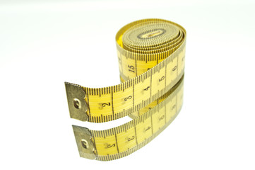 Yellow Lying Measuring Tape