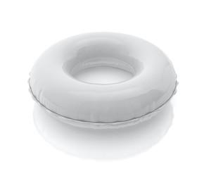 blank white pool ring isolated on white background