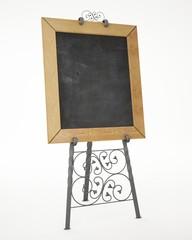 romantic wrought iron pedestal with blackboard
