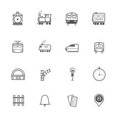 Train Transport Icons