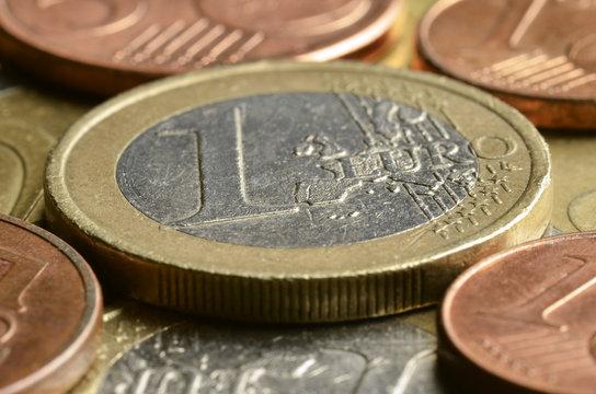 1 euro (minca) Pièce de 1 euro Moneda de un euro