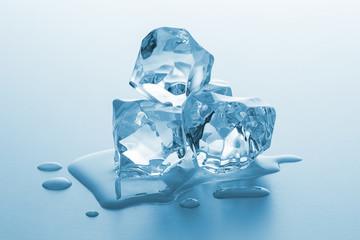 melting chunks of ice