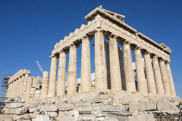 Foto op Canvas Athene Reconstruction of Parthenon in Greece