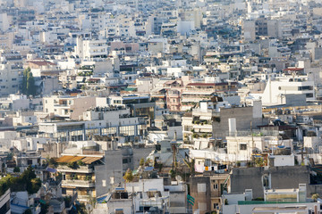View of houses in Athens