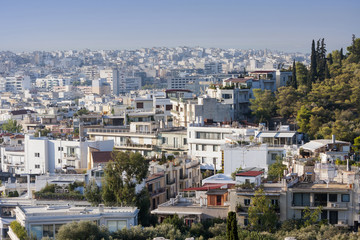 Athens city panorama