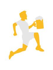 Rennen Laufen Bier Krug