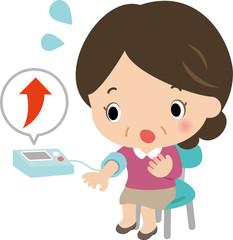 高血圧を気にする女性