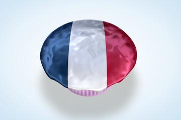 France Flag Cupcake