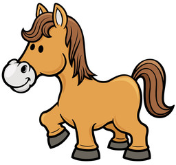 Vector illustration of horse