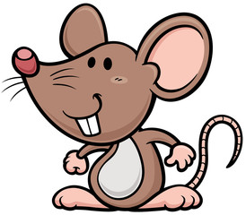 Vector illustration of cartoon rat