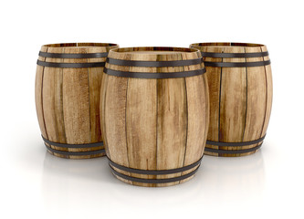 wine barrels. 3d illustration