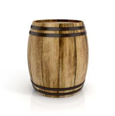 wine barrel on white background. 3d illustration