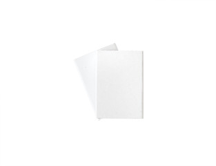 close up of two white boxes templates on white background