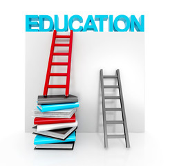 ladders and books up to education
