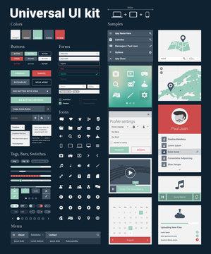 Universal UI Kit for designing websites & mobile apps