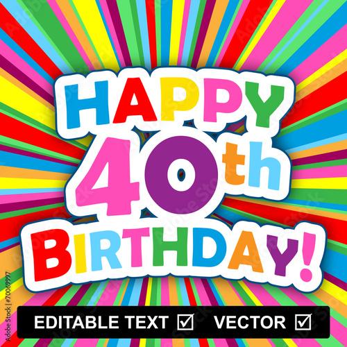 Happy Birthday Card Editable Text Vector Insert Your Own Stock