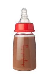 Bottle of chocolate flavoured milk